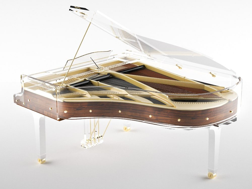 Lucid Elegance transparent piano_1
