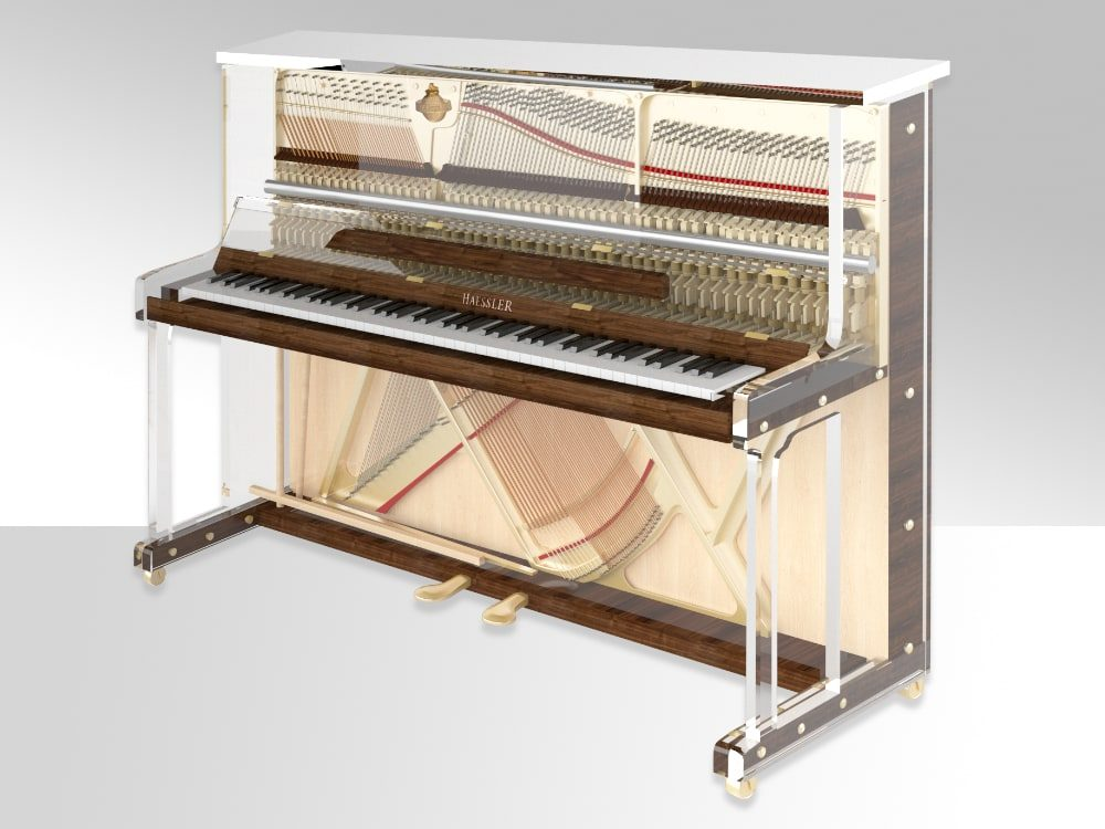 Lucid iDyllic transparent upright piano_