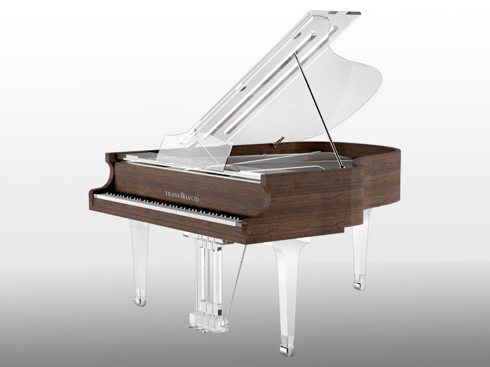 Translucid Acrylic Transparent Piano_10