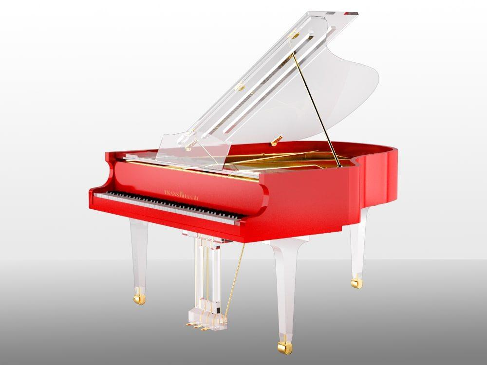 Translucid Acrylic Transparent Piano_11