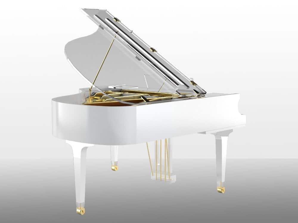 Translucid Acrylic Transparent Piano_14