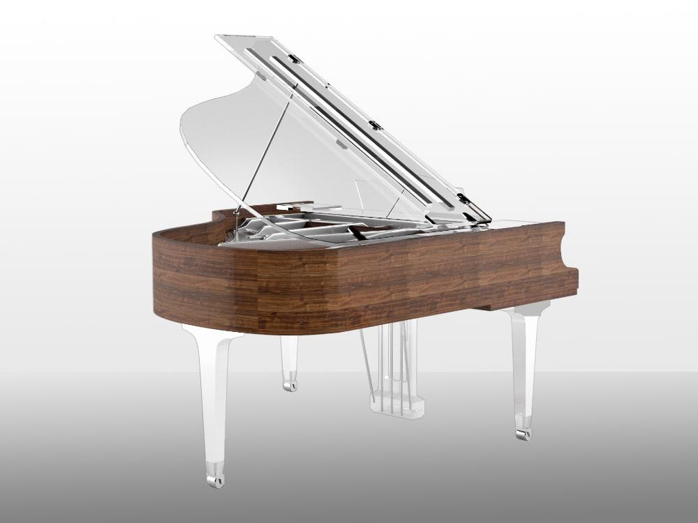 Translucid Acrylic Transparent Piano_16