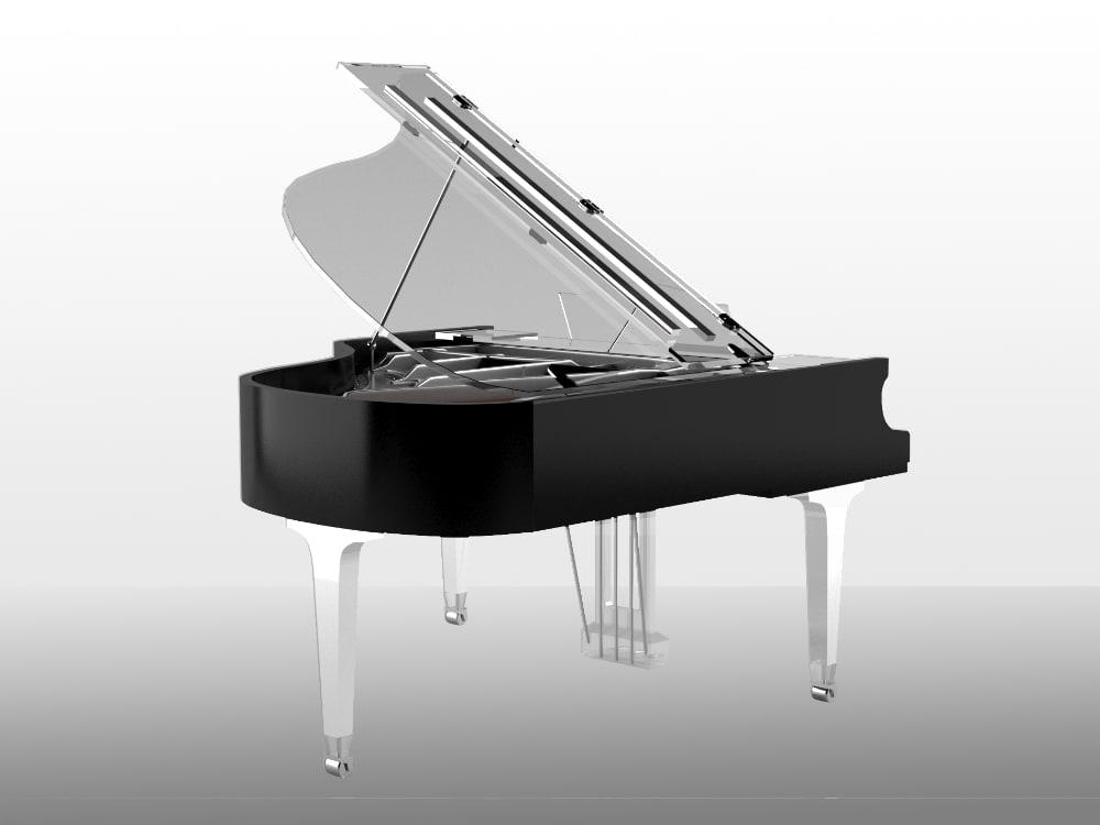 Translucid Acrylic Transparent Piano_12