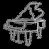 Fully Transparent Pianos