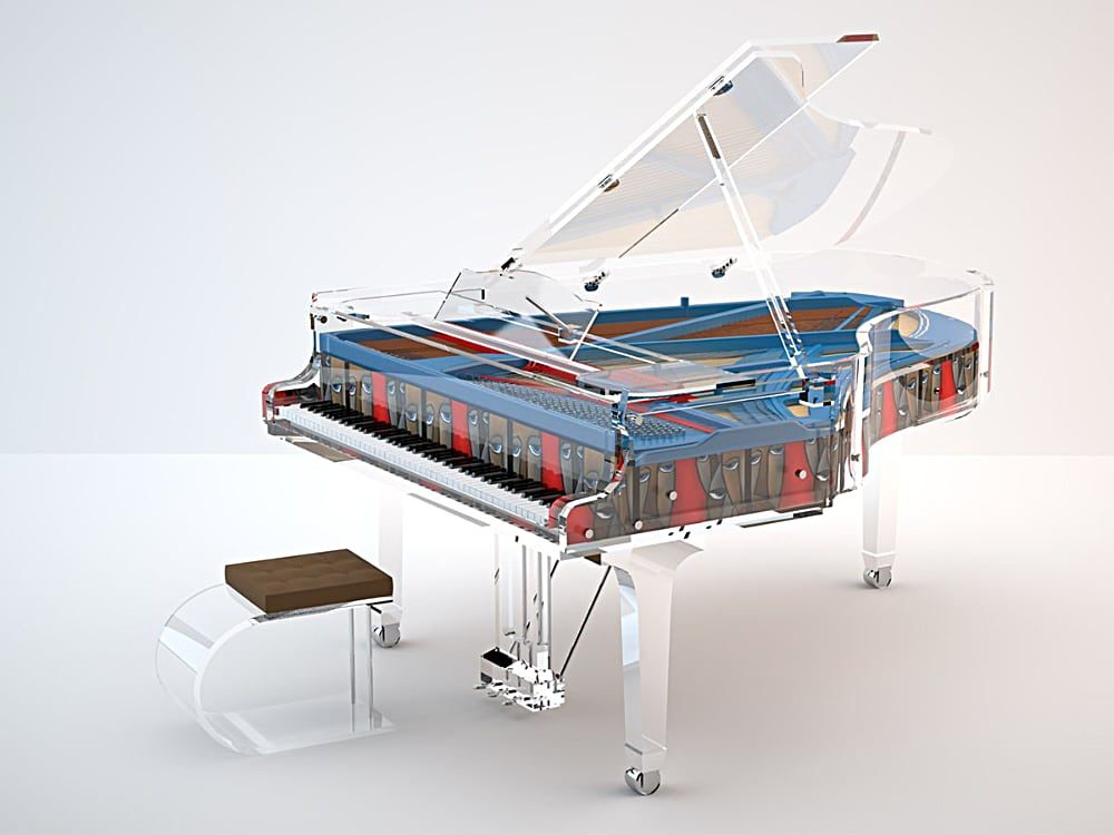 Lucid Panoramic customizable acrylic piano