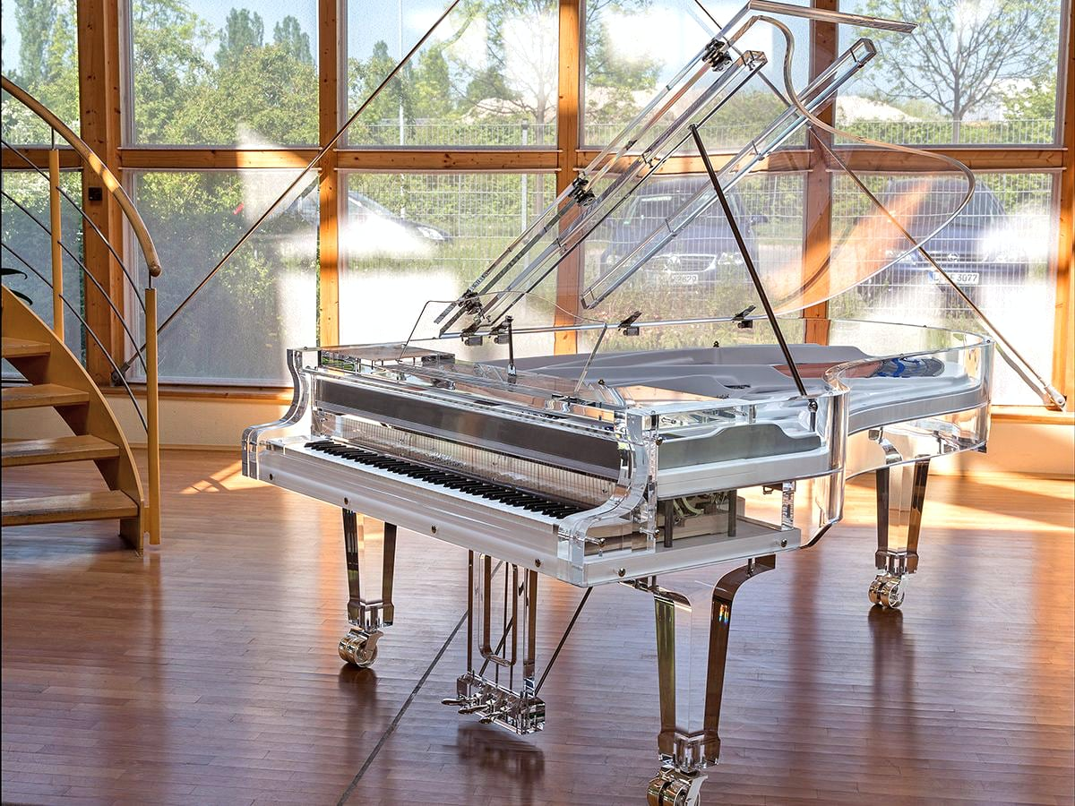 Bluthner Lucid crystal acrylic piano