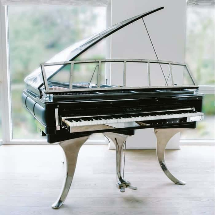 The iconic PH grand piano was designed in 1931 by Poul Henningsen. It is a proof of the genius concept that the modern incarnation of PH looks as though it was conceived in 2020. Timeless futurism. Simply unforgettable piano. Total customization is available.