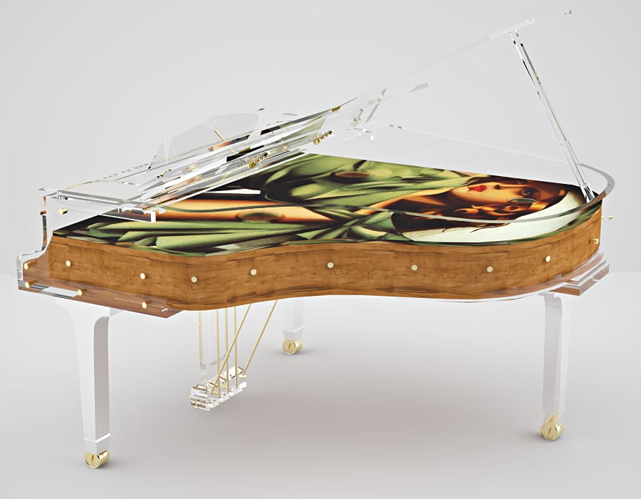 Digital crystal pianos by Bluthner Lucid are works of art! Literally.