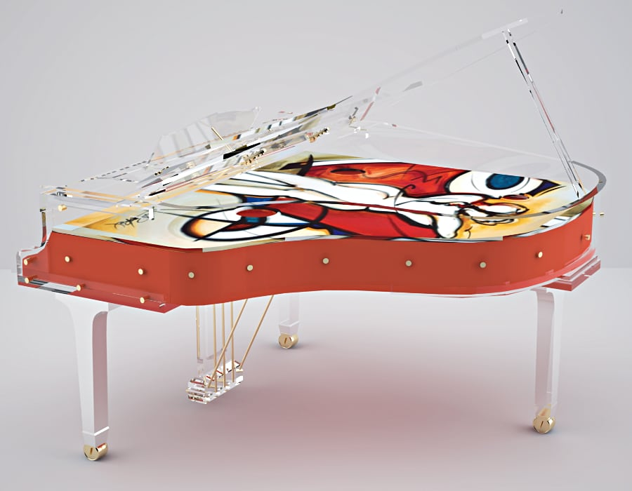 Only Lucid Pianos gives you unlimited possibilities designing your own unique transparent piano.