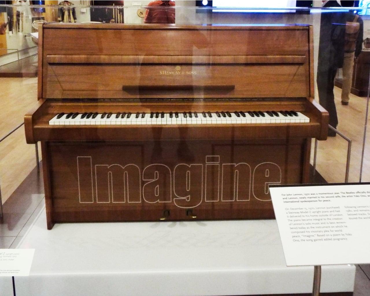 John Lenon Steinway Model Z upright piano