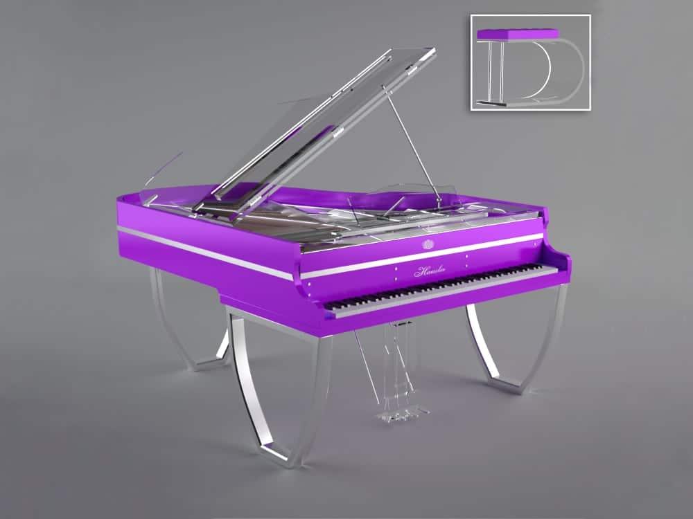 Translucid Tiara piano purple