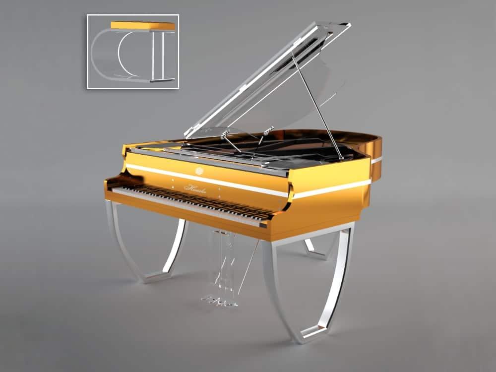 Translucid Tiara piano_orange