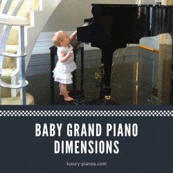 Baby grand piano dimensions