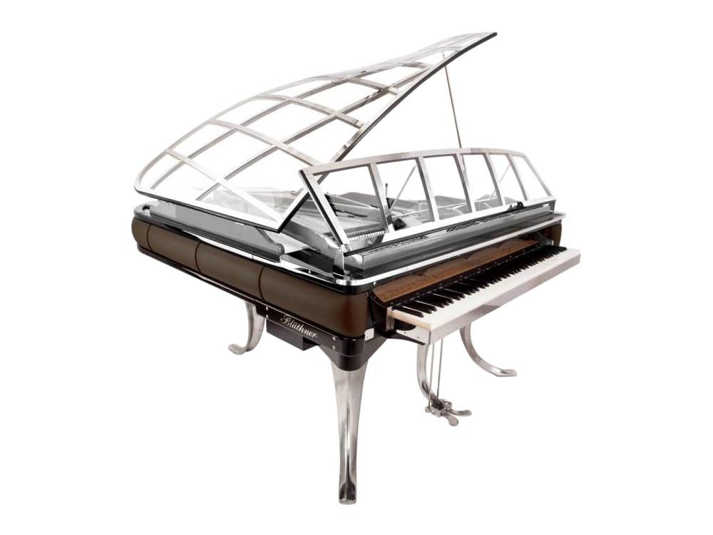 PH piano with walnut trim