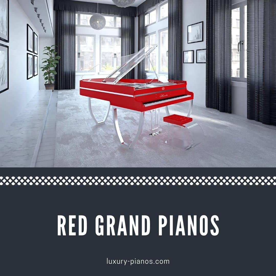 Red grand pianos for sale