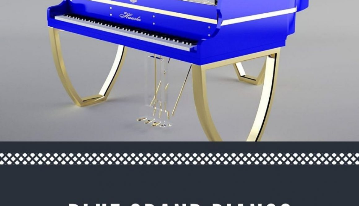 Blue grand pianos for sale