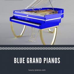 Blue grand pianos for sale