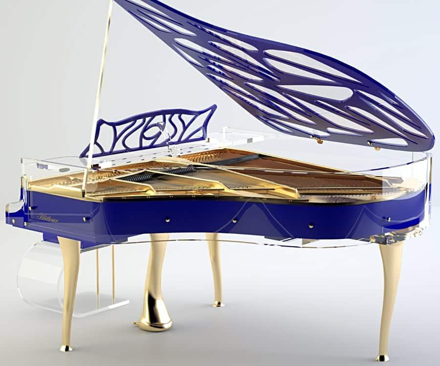 Hive elegance shadow cobalt blue grand piano