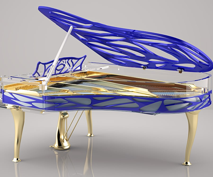 Hive Extravaganza piano in Bold Cobalt