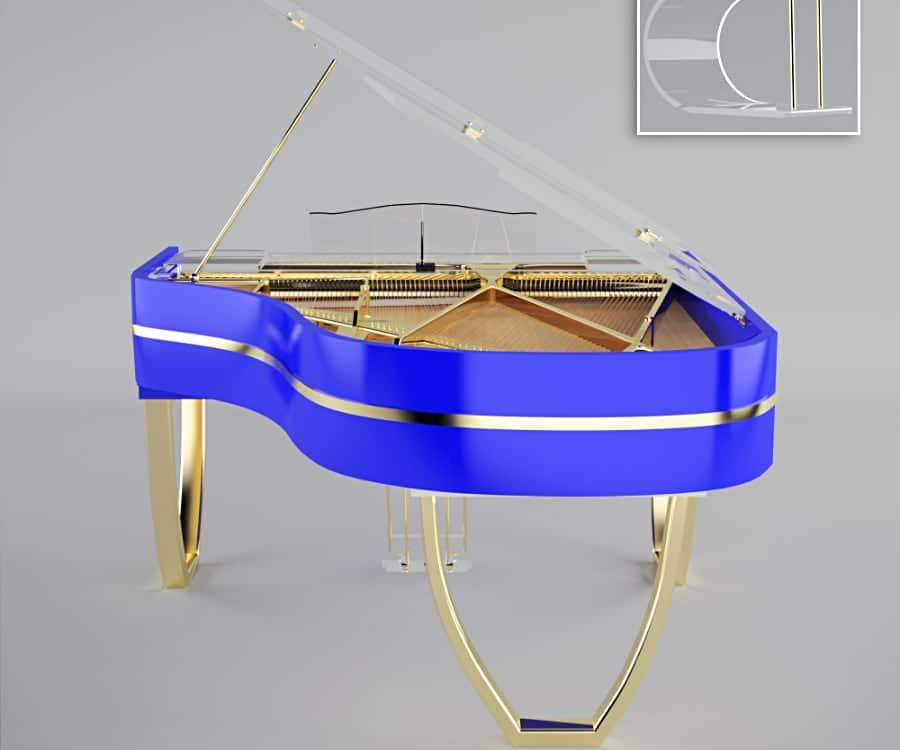 Tiara grand piano Electric Blue