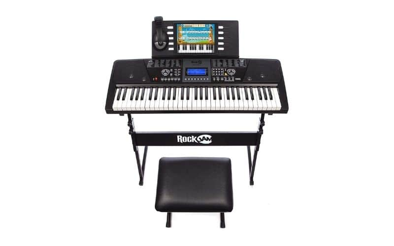 RockJam 61 Key Keyboard Piano With LCD Display