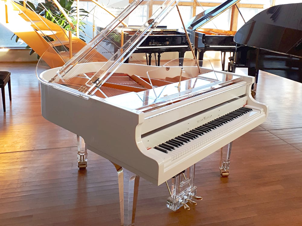 Translucid acrylic piano