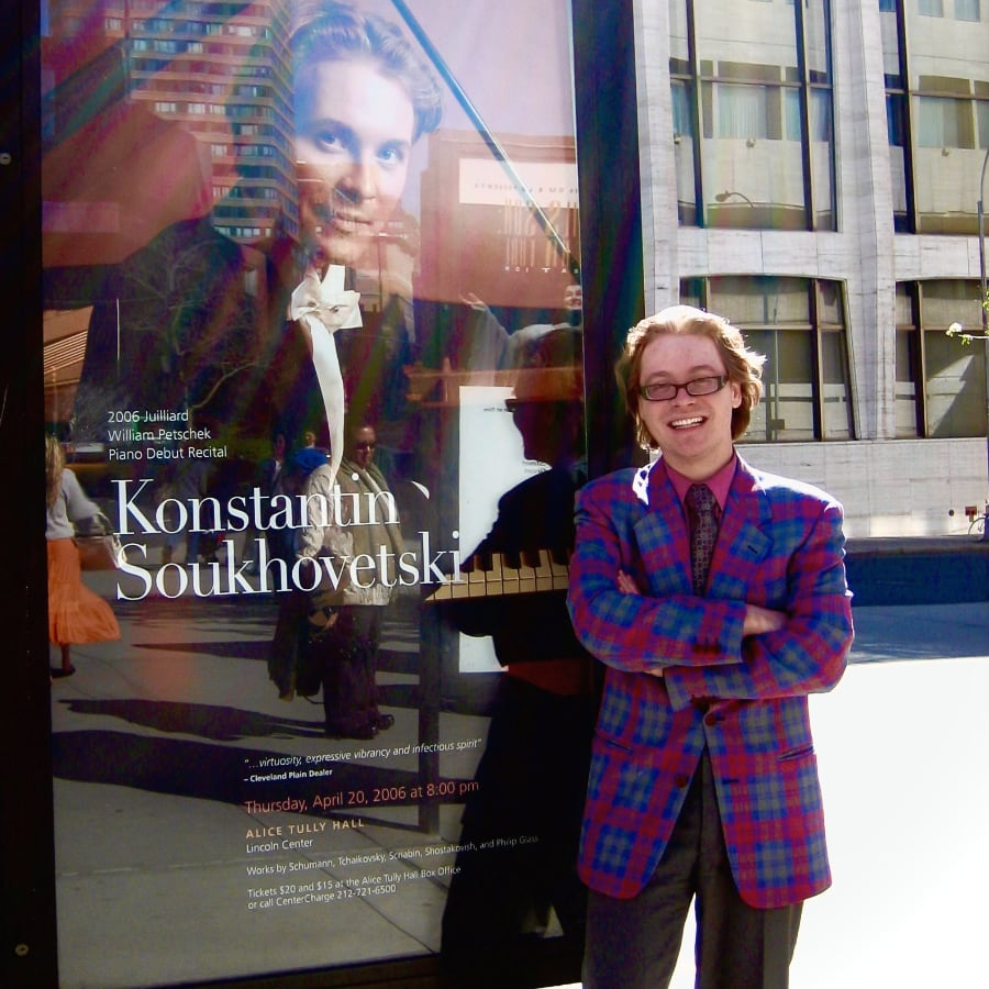 Concert pianist Konstantin Soukhovetski at the Juilliard School before performance