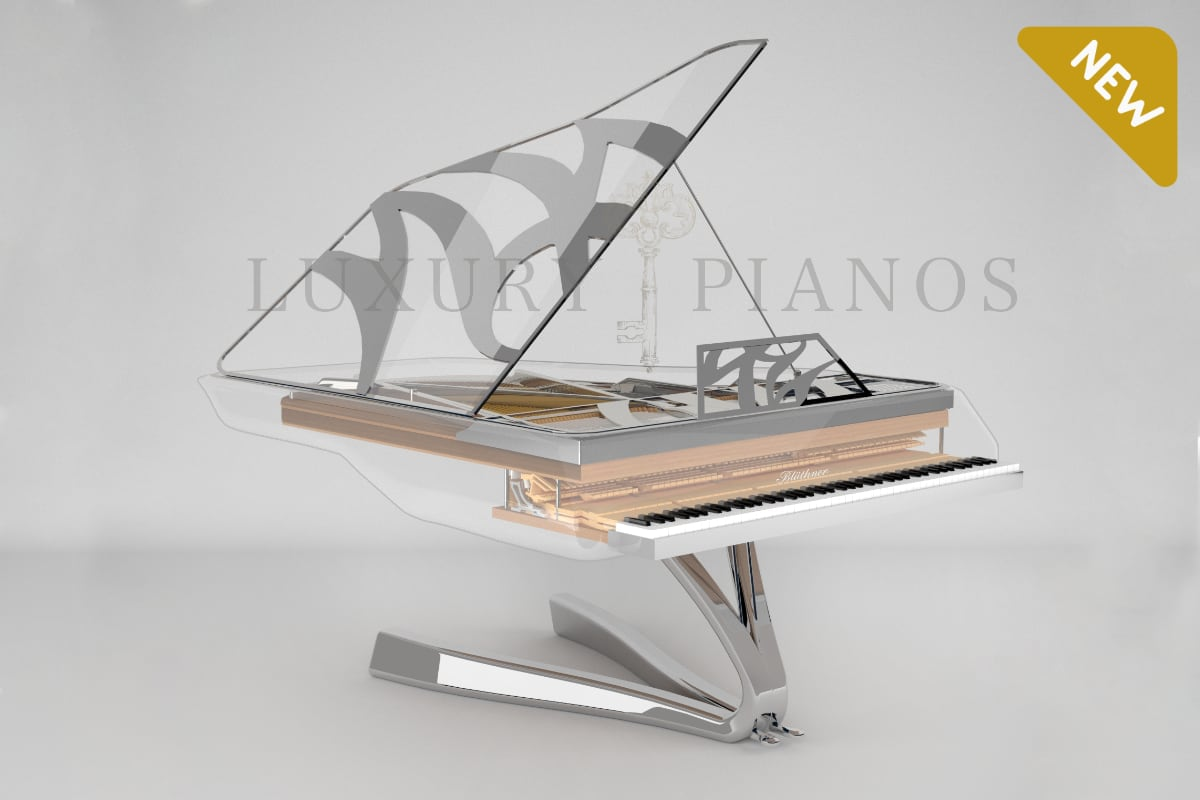 Lucid Enzo crystal piano in silver_01