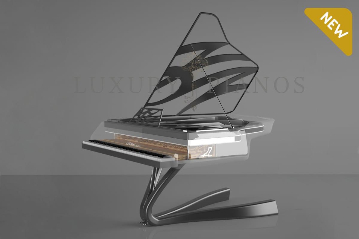 Lucid Enzo crystal piano in titanium_01