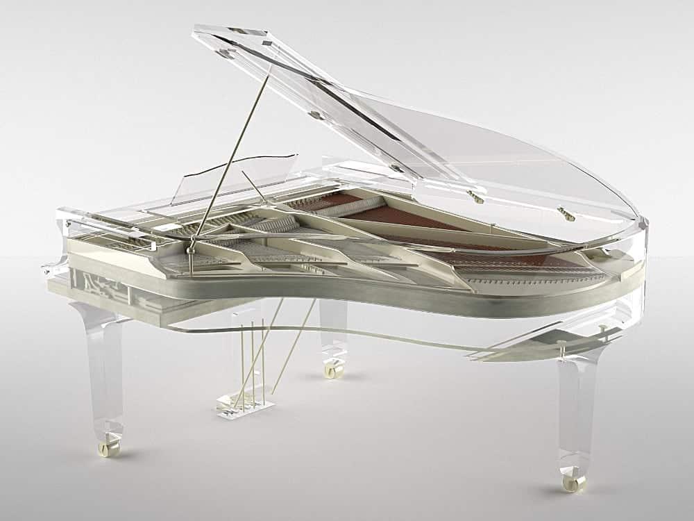 Lucid iDyllic luxury transparent grand piano