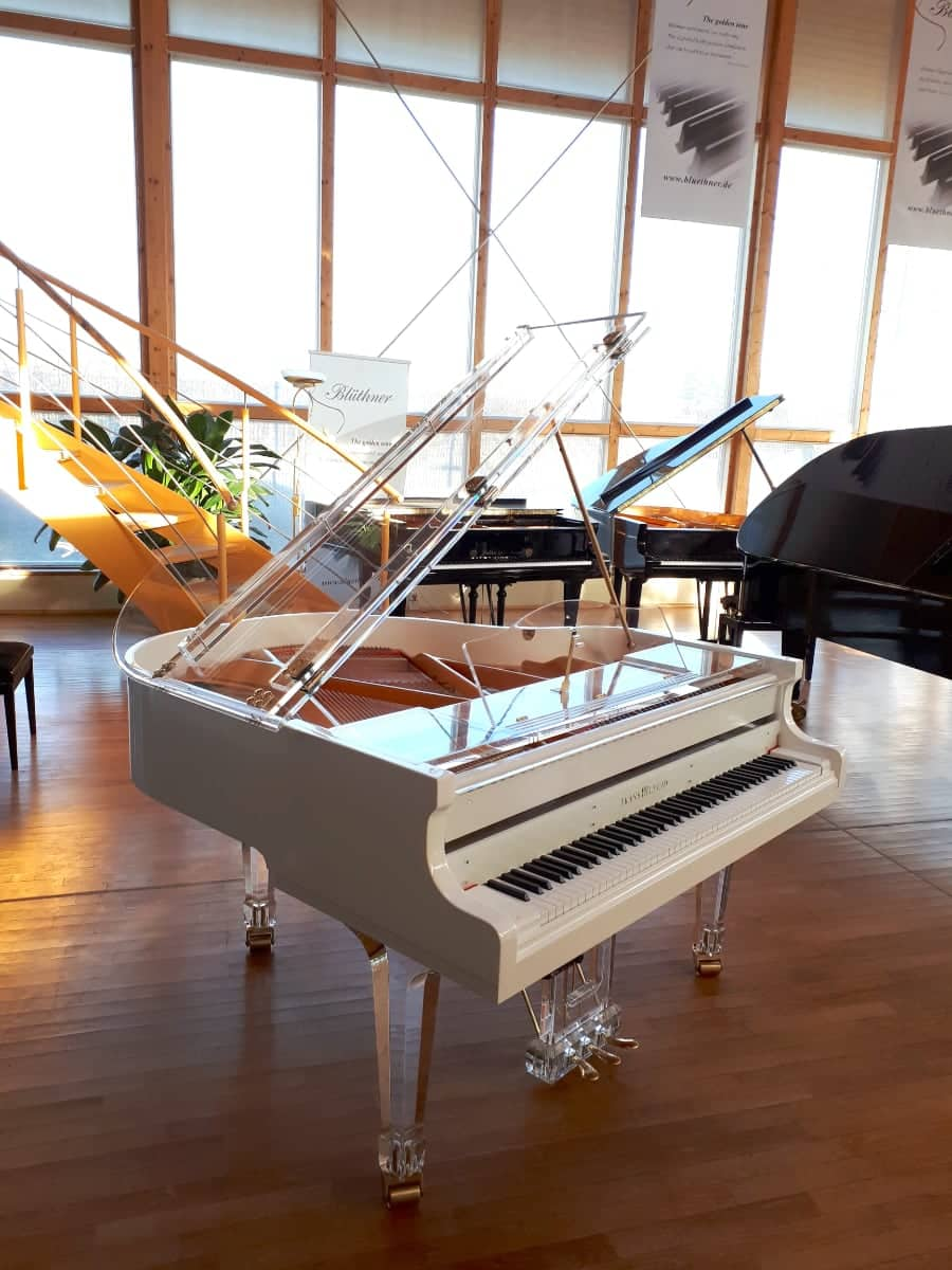 This Translucid semi transparent acrylic piano by Lucid Pianos is handmade in Germany using the highest quality Evonik acrylic.