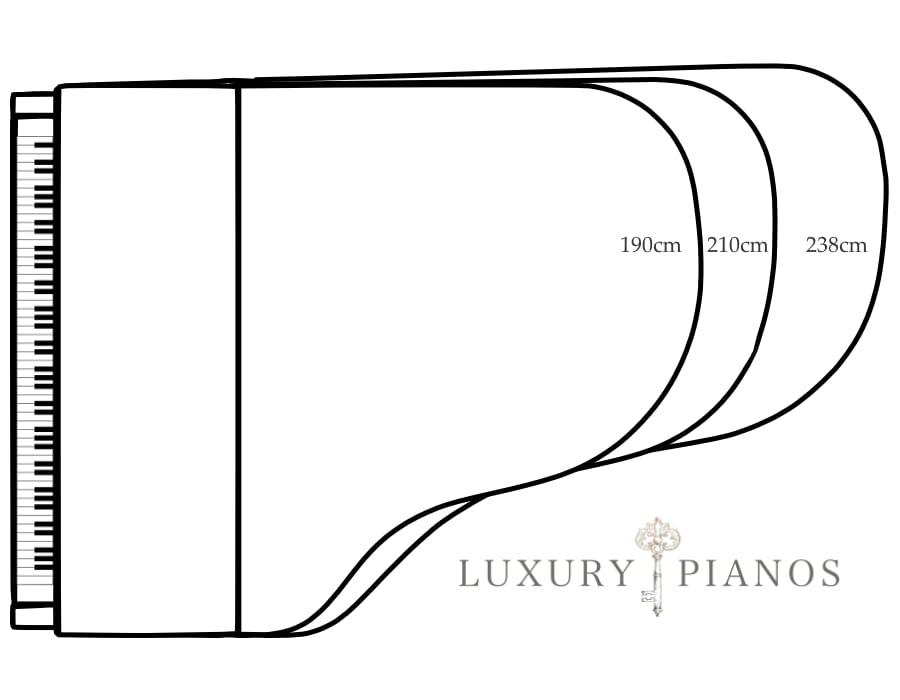 Rococo Piano sizes