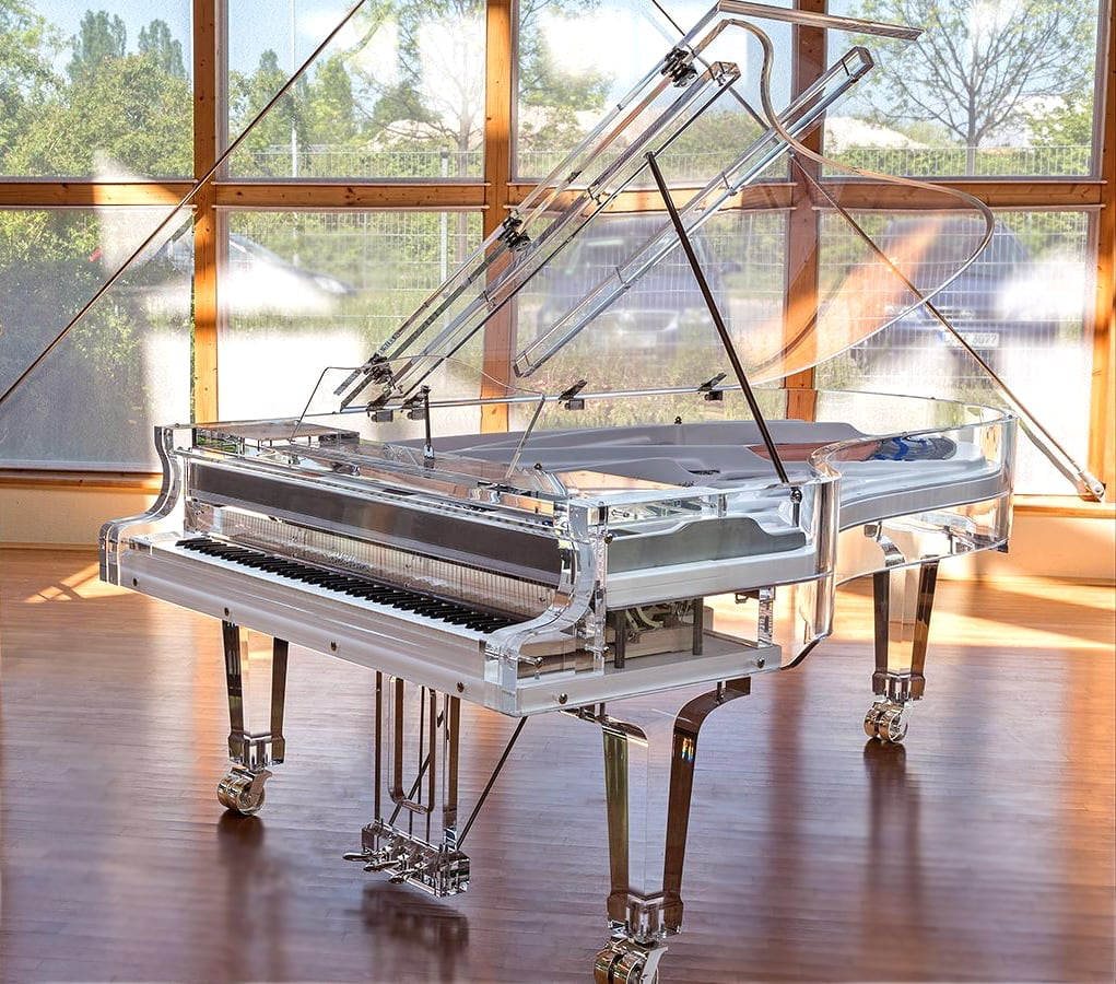 Bluthner Lucid IDyllic Excellence the only fully transparent piano