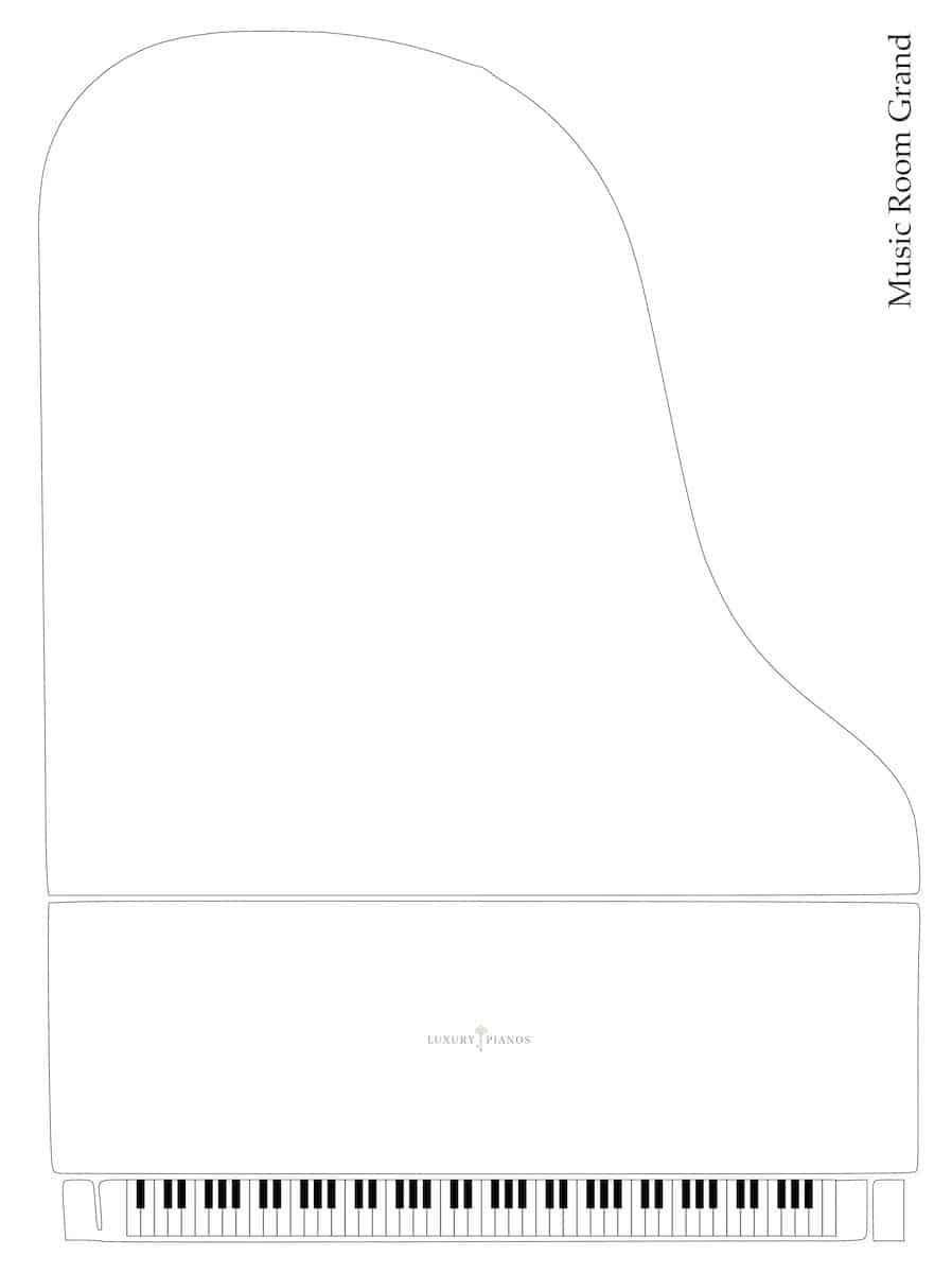 Music room grand piano dimensions