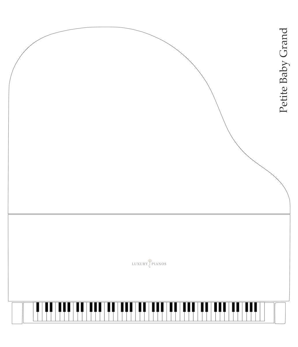 Petite baby grand piano dimensions