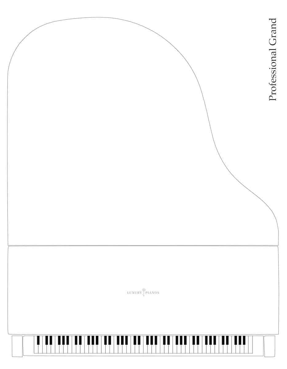 Professional grand piano dimensions