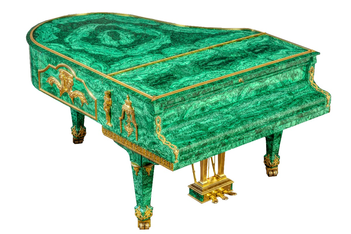 Tsar's Treasure Malachite baby grand piano
